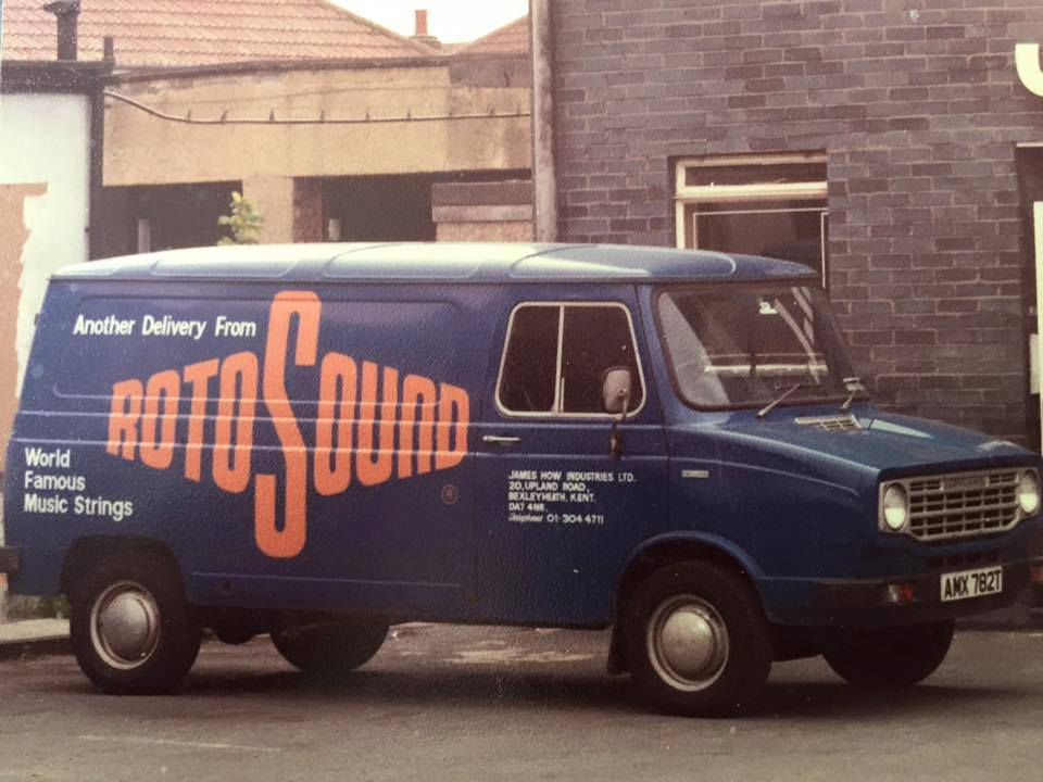 Rotosound's blue van