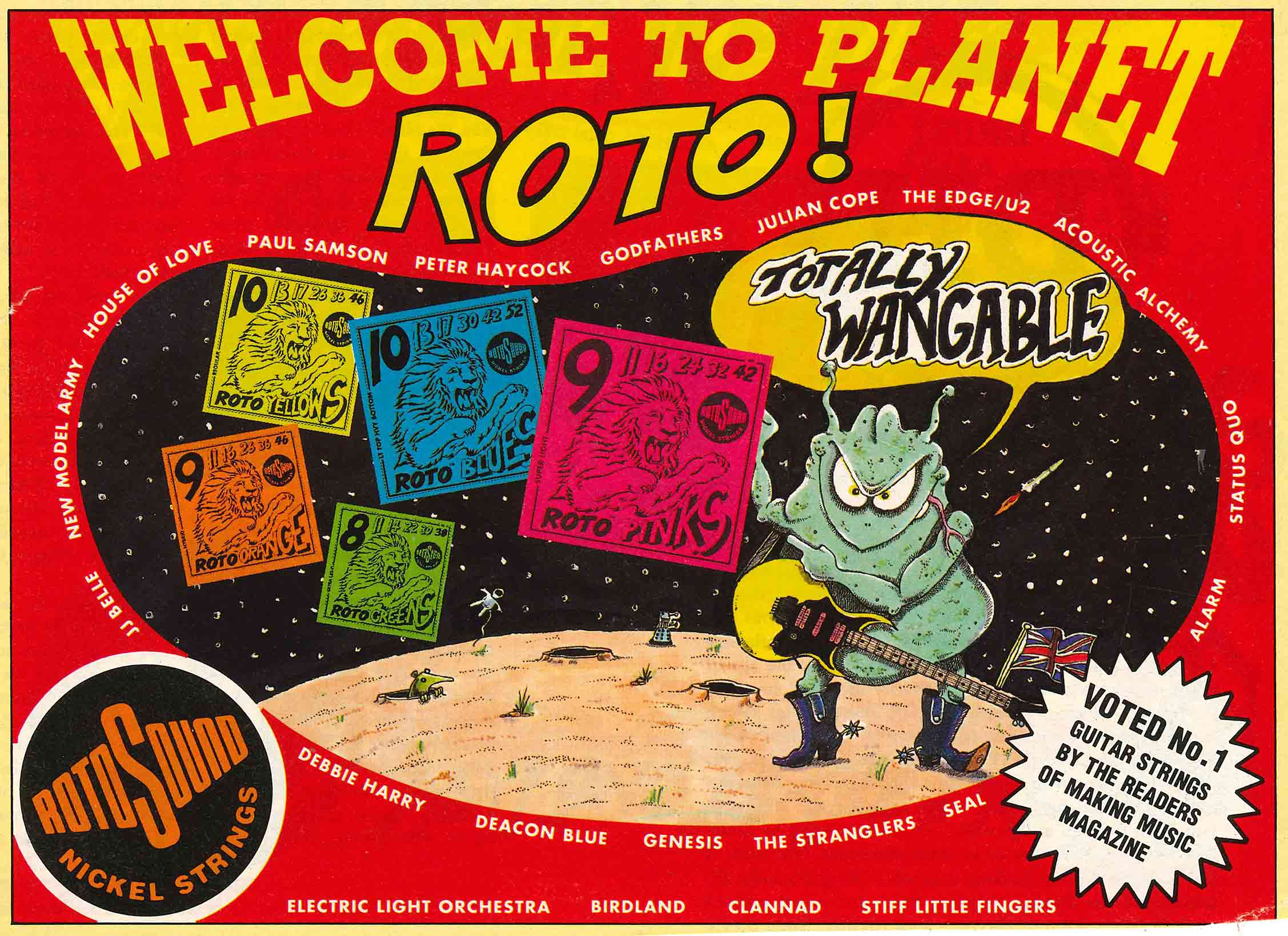 Welcome to Planet Roto - Rotosound advert with alien nickel strings