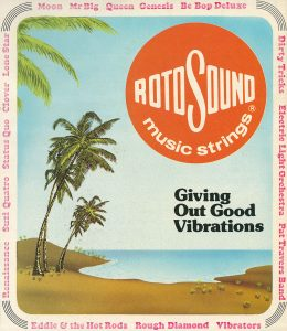 Rotosound Music Strings Giving Out Good Vibrations advert